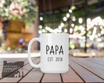 gift for papa pregnancy reveal grandpa gift grandpa mug papa mug birth announcement  new grandpa to be gift fathers day gift dad gift papa