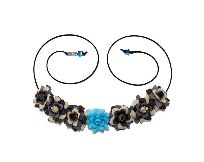 Blue Lightsaber Flower Crown