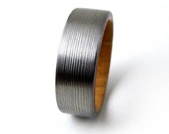 Wedding Ring, Olivewood Ring, Wedding Band, Engagement Ring, Engagement Band, Handmade Ring, Titanium Ring, Men's Ring, Women's Ring