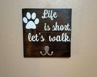 Dog Leash Holder - Dog Collar Holder - Dog Leash Hanger - Dog Leash Hooks - Leash Hanger - Leash Hooks - Dog Lover Gift -