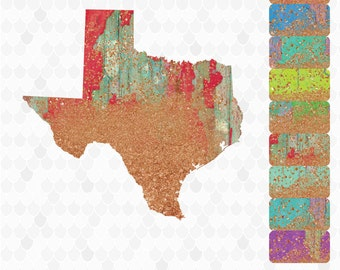 Texas, Texas Clipart, Rustic Clipart, Neon Clipart, United States Shapes, Texas Map, Texas Outline, Decal for Shops, Free Commercial Use