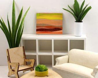 Original Artwork for the Modern Miniature Home - Sunset Hills and Colors