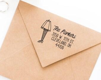 Return Address Stamp, Leg Lamp Return Address Stamp, Holiday Address Stamp, Holiday Card Stamp, Christmas Card Address Stamp, Funny Holiday