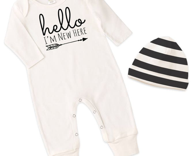 Newborn Boy Coming Home Outfit, Newborn Baby Boy Clothes, Baby Boy Coming Home Outfit, Baby Boy Romper, Baby Boy Romper Tesababe