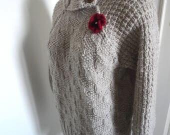 Alpaca raglan sweater size 42/44/46