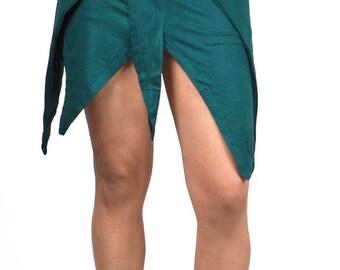 M158 Fae Skirt Top (Covertable, Fairy, Elven, Zelda, Folklore, Nymph, lotus skirt)