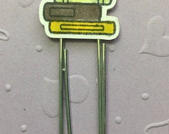 Bird & Books - Planner Paper Clip - Altered Paper Clip - Bookmark - Planner Accessory - Planner Clip Set - Happy Planner