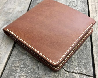 Mens Large Wallet, Kangaroo Leather Wallet, Personalised Wallet, Large Leather Wallet, Leather Bifold Wallet