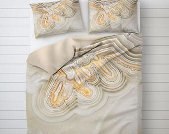 Abstract Bedding, Mineral Photography, Lace Agate Bedding, Picture Duvet Cover, Unique Duvet Covers, Soft Duvet Cover, Duvet Cover Queen