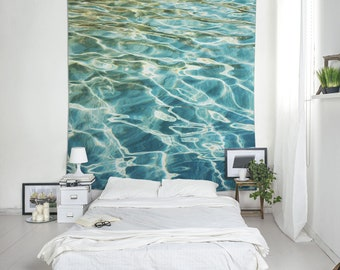 Wall Hanging, Dorm Room Decor, Water Art, Home Gifts, Wall Tapestry Boho, Cute Tapestry, Beach Print Boho Tapestries, Sea Wall Decor. UL023