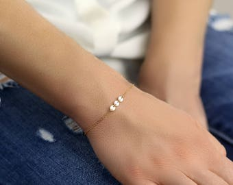 Dainty Bracelet - Thin Bracelet - Gold Circle Bracelet - Gold Tattoo Bracelet - Layering Bracelet