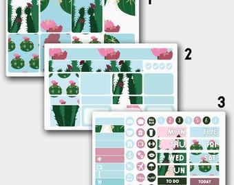 Cactuses Erin Condren  Weekly Kit, Weekly Kit for Erin Condren Planner,  Erin Condren Sticker Monthly Kit, Erin Condren Adapted Vertical Kit
