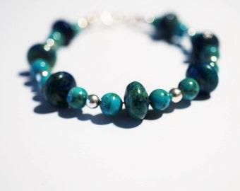 Handmade Sterling Silver Turquoise   Bracelet 12g