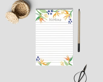 NOTES PAGE . Notepad, pocket notepad, to do list, notes inserts, A6 size