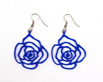 Rose earrings / 3D printed earrings