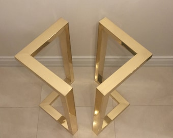 Gold Table Legs Etsy