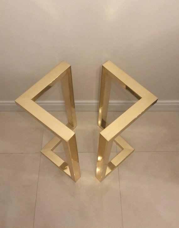 28hx20w gold table legs brass dining table legs. Black Bedroom Furniture Sets. Home Design Ideas