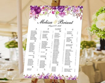 Wedding Seating Chart Poster, Wedding seating chart alphabetical, Wedding Seating Chart, Wedding Polka Dots - US_WC0801