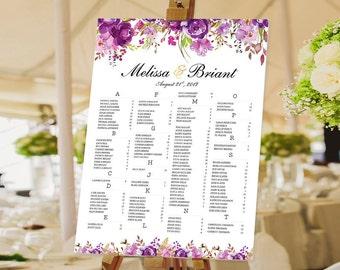 Wedding Seating Chart Poster, Wedding seating chart alphabetical, Wedding Seating Chart, Wedding Polka Dots - US_WC0801