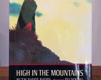 High In The Mountains - Ed Young, Ruth Yaffe Radin - First Edition Children's Books, Kids Books, Poems, Grandfathers, Mountains, 1980s