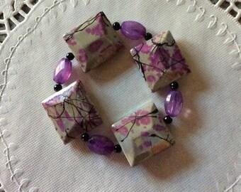 Beaded Bracelet / Acrylic Beads