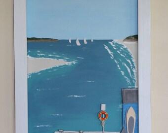 Hamptons series, the Jetty, Australian beach art