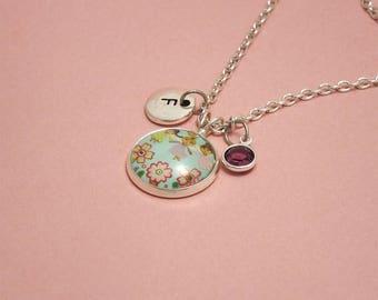 Flower fairy necklace Garden fairy jewelry Garden fairy necklace Girls necklace Fairy charm necklace Fairies jewelry Garden fairies necklace