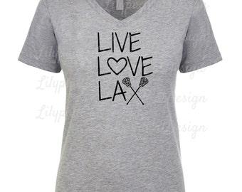 Live Love Lax svg, lacrosse svg, lax svg, lax girl svg, lacrosse shirt svg, love lacrosse svg, sports svg, lacrosse cut file, PNG, lax DXF