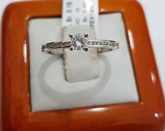 Diamond engagement ring, 14k white gold