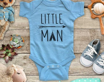 Little Man Tepee boho arrow cute Baby bodysuit Toddler Shirt or Youth Shirt - cute birthday baby shower gift