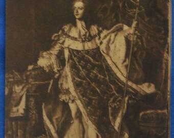 Art Portrait Louis XV King France Rigaud French Antique Postcard Versailles Museum