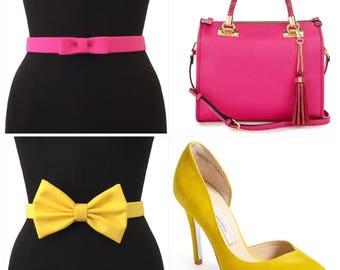 MATCH my Bow Belt | Custom Color Belt | Designer Belt | Bow Belt