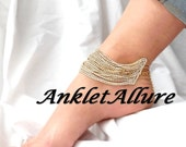 BLING ME UP Anklet Clear Rhinestone Ankle Bracelet Statement Gold Anklets for Women