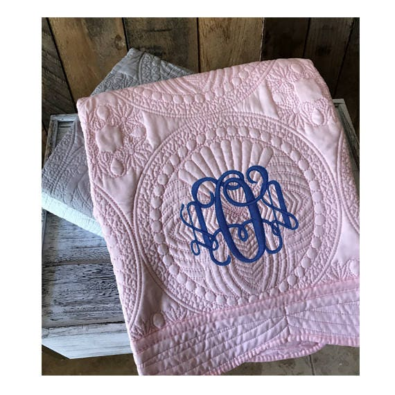 Monogram baby quilt personalized baby quilt personalized like this item negle Image collections