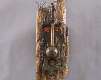 Art Mask Sculpture, Wooden Sculpture - Gip