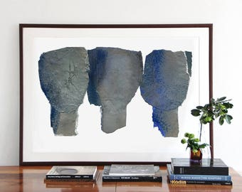 Together, Extra Large Wall Art, Abstract Painting Blue, Giclee Art Print of Original