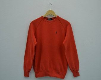 Polo Ralph Lauren Sweatshirt Men Size XS Vintage Polo Ralph Lauren Pullover Polo Vintage Casual Sweat