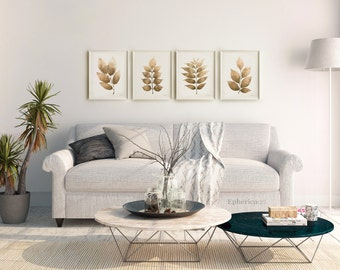 Wall poster prints, Brown wall decor Living room art set 16x20 Printable  gallery wall decor