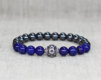 Zodiac jewelry-for-men bracelet-for-him birthday gift-for-boyfriend gift Protection jewelry Gemstone bracelet Taurus jewelry Taurus bracelet