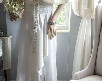Luxury Vintage EMBA  Mink Stole -WHITE JASMINE  Mink Fur Stole - Real Mink - Luxury Bridal Fur Bolero Capelet  Shrug - Cape -  Wrap - Mint