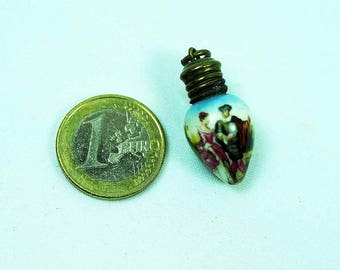 Rare Antique Dollhouse Perfume Bottle Porcelain Miniature