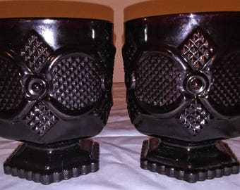 Avon 1876 Cape Cod Collection Set of Two Footed Tumblers