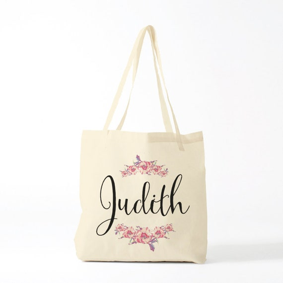 Tote Bag, Bridesmaid, custom name, boho wedding, Judith.