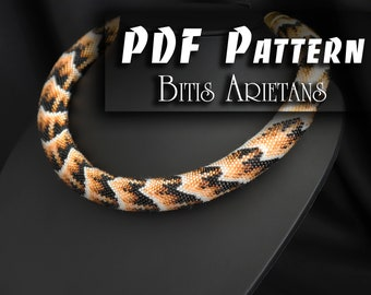 PDF Pattern for bead crochet necklace - Python pattern - Pattern for snack necklace