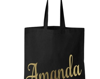 Personalized Tote Bag, Canvas Tote Bag, Grocery Tote Bag With Name, Canvas Totes, Monogram Tote Bags, Gift Ideas For Her, Personalized Gifts