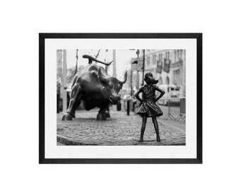 Fearless Girl Statue ,New York Photography, feminism, fearless, wall Art Print, Framed Art Print, Girl Power, women rights, girl power, art