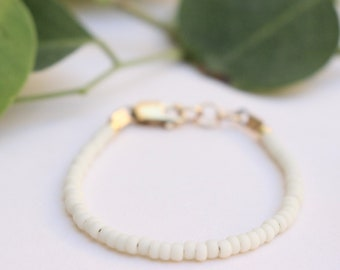 Classic Bracelet • Cream Baby Bracelet • Cream Toddler Bracelet • Stackable Baby Bracelet • Stackable Toddler Bracelet
