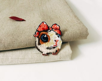 cute hamster patch -iron on patch -embroidered patch -tiny-gorgeous-applique-animal-DIY