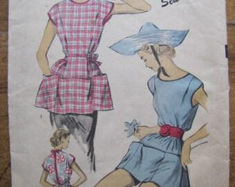 Vintage Advance Apron Pattern Cobblers Apron 1950s Large
