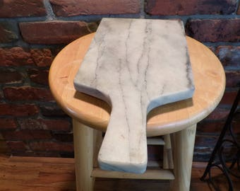 Vintage Marble Cutting board, Footed marble board, marble cheese board, heavy marble board